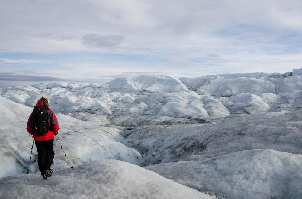 Inlandsisen - frozen stormy sea w Samira (7429 Bjorn)