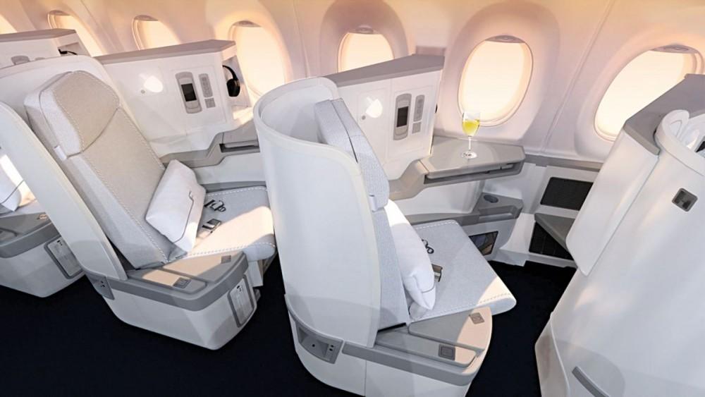 Finnair A350 XWB Business Class Cabin 03 seat HR