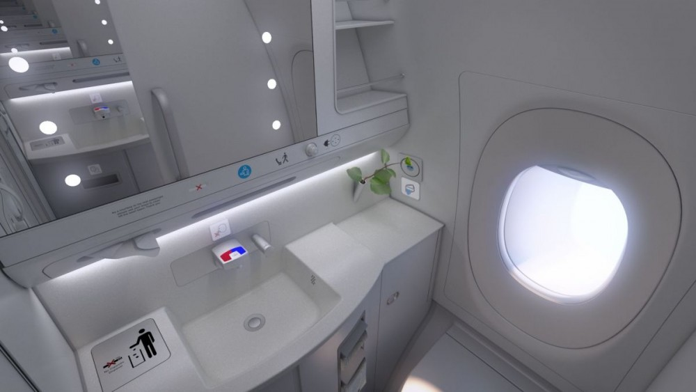 Finnair A350 XWB Business Class lavatory