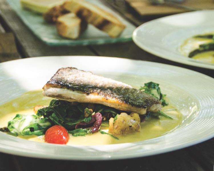 Franschhoek - Café des Arts fisk på bord (DSC_8941 B)