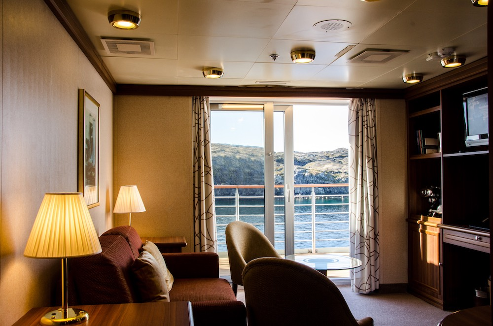 Expedition crystal in greenland first class magazine for First class cruise ship cabins