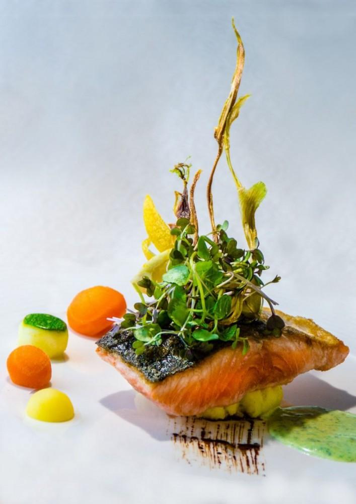 Grönlandskryssning - food salmon (4980a Bjorn)