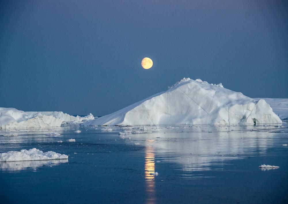 Grönlandskryssning - the icefjord in sunset (6825 Bjorn)
