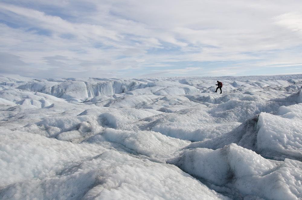 Inlandsisen - frozen stormy sea 1 (7488 Bjorn)