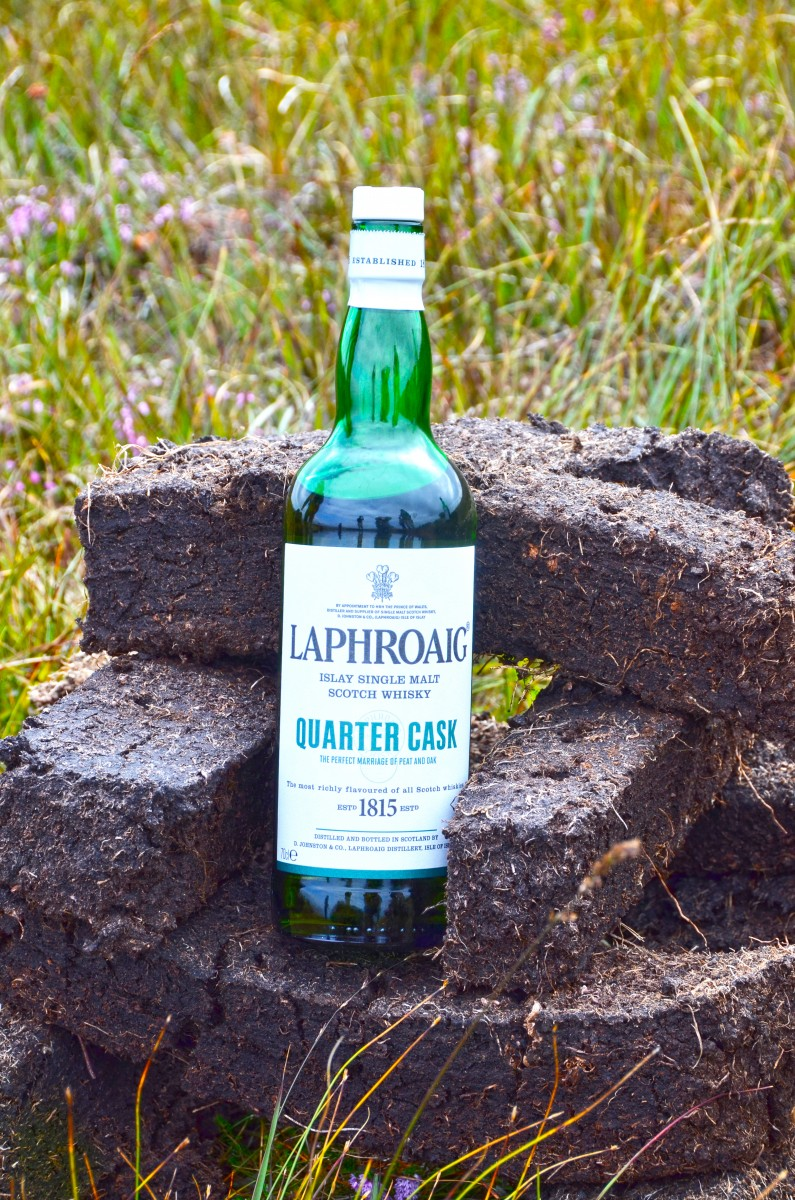 Islay Scotland - bottle Laphroaig w peat (15A8823)