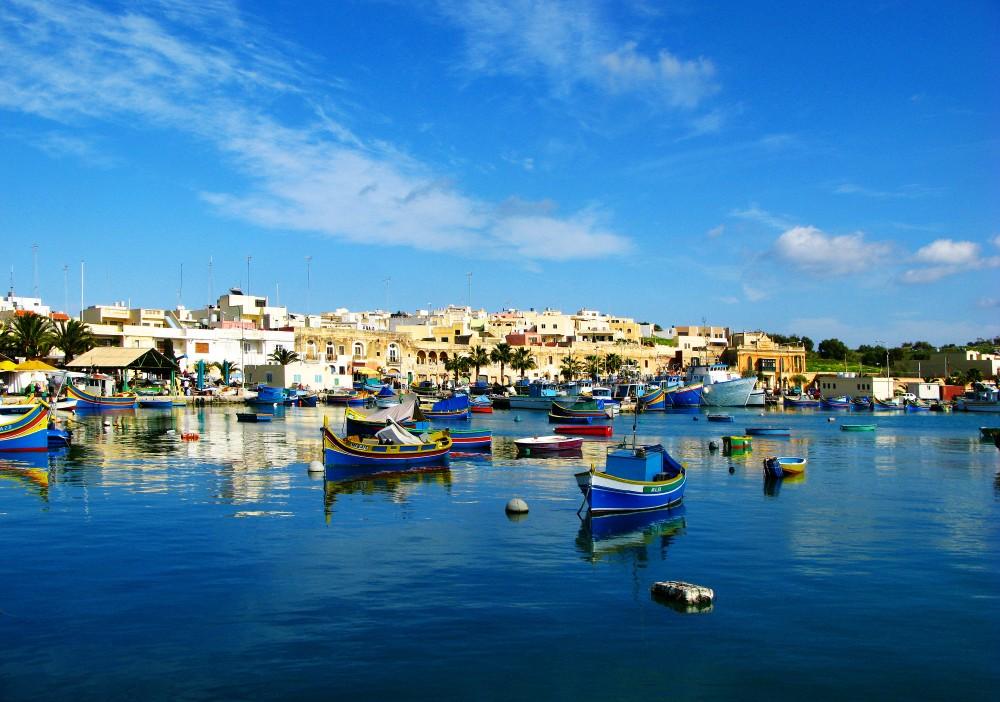 Hamnen i Marsaxlokk.