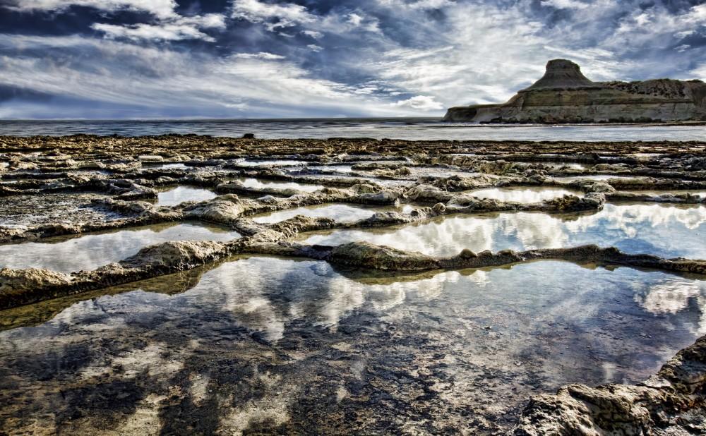 Saltdammarna i Qbajjar. Foto: Jeffrey Cassar.